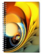 Gold Fan Leaves Spiral Notebook