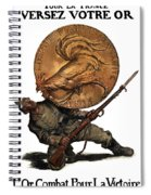 Gold Fights For Victory Spiral Notebook