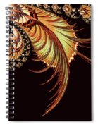 Gold Leaf Abstract Spiral Notebook