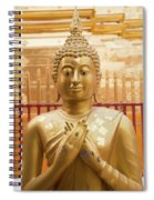 Gold Leaf Buddha Spiral Notebook