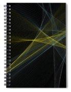 Gold Mine Computer Graphic Line Pattern Spiral Notebook