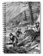 Gold Mining, 1853 Spiral Notebook