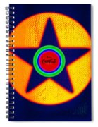 Gold On Blue With Cola Spiral Notebook
