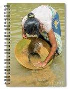 Gold Panning Spiral Notebook