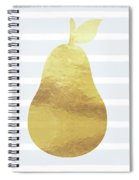 Gold  Pear - Art By Linda Woods Spiral Notebook