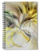 Gold Plumage Spiral Notebook