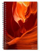 Gold Red And Orange Abstract Spiral Notebook