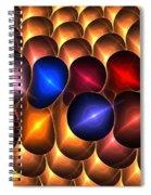 Gold Red Bells Spiral Notebook