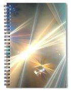 Gold Star Beams Spiral Notebook
