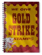 Gold Strike Stamps Spiral Notebook