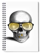 Skull With Gold Teeth And Sunglasses Spiral Notebook