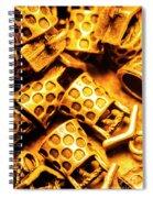 Gold Treasures Spiral Notebook