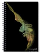Gold Wire Abstract Spiral Notebook