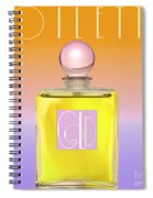 Gold Yellow Art Deco Perfume Spiral Notebook