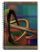 Golden Abstract Spiral Notebook