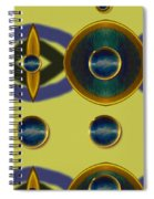 Golden Abstracte Spiral Notebook