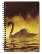 Golden African Swan Spiral Notebook