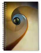 Golden And Brown Spiral Staircase Spiral Notebook