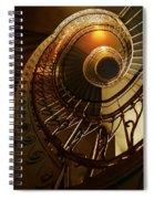 Golden And Brown Spiral Stairs Spiral Notebook