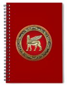 Golden Babylonian Winged Bull  Spiral Notebook