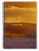 Golden Backlit Wave Spiral Notebook