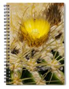 Golden Barrel Blossom Spiral Notebook