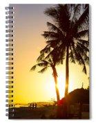 Golden Beach Tropics Spiral Notebook