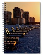 Golden Benches Spiral Notebook