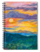Golden Blue Ridge Sunset Spiral Notebook
