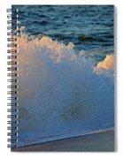 Golden Blue Splash Spiral Notebook