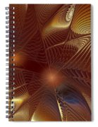 Golden Bronze Swirl Spiral Notebook