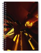 Golden Brown Abstract Spiral Notebook
