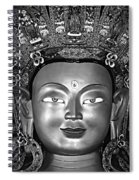 Golden Buddha Monochrome Spiral Notebook