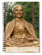 Golden Buddhist Monk Spiral Notebook