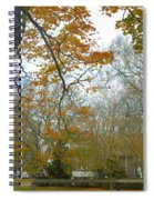 Golden Bus Stop Late Autumn Spiral Notebook