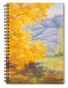 Golden California Sycamores Spiral Notebook