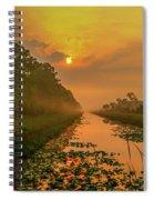 Golden Canal Morning Spiral Notebook