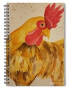 Golden Chicken Spiral Notebook