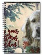 Golden Christmas Spiral Notebook
