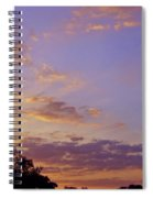 Golden Clouds At Sunset Spiral Notebook