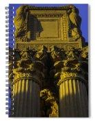 Golden Columns Palace Of Fine Arts Spiral Notebook
