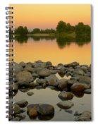 Golden Contemplation Spiral Notebook