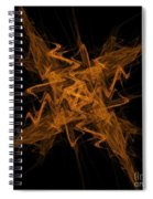 Golden Crosshatch Scribble  Spiral Notebook