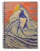 Golden Dawn On Matterhorn Spiral Notebook