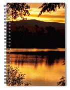 Golden Day At The Lake Spiral Notebook