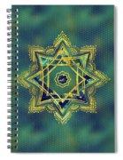 Golden Decorative Star Of Lakshmi - Ashthalakshmi  Spiral Notebook