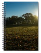 Golden Dew Autumn Sunrise Spiral Notebook