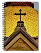 Golden Dome Notre Dame Spiral Notebook