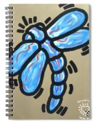 Golden Dragonfly Spiral Notebook