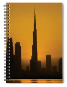 Golden Dubai Spiral Notebook
